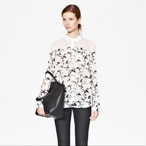 French Connection • Hatched Horses Sheer Shirt